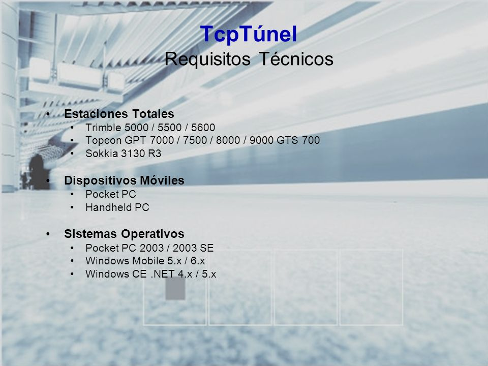 TcpTúnel Requisitos Técnicos