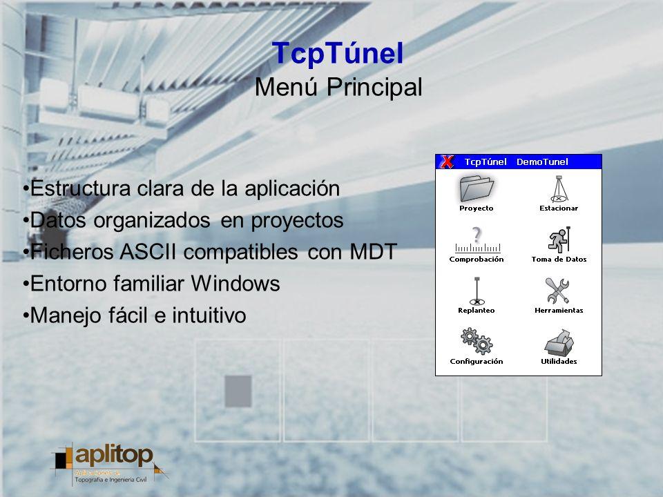 TcpTúnel Menú Principal