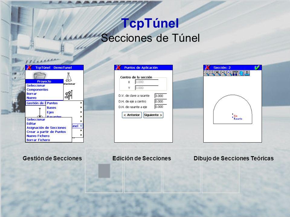 TcpTúnel Secciones de Túnel