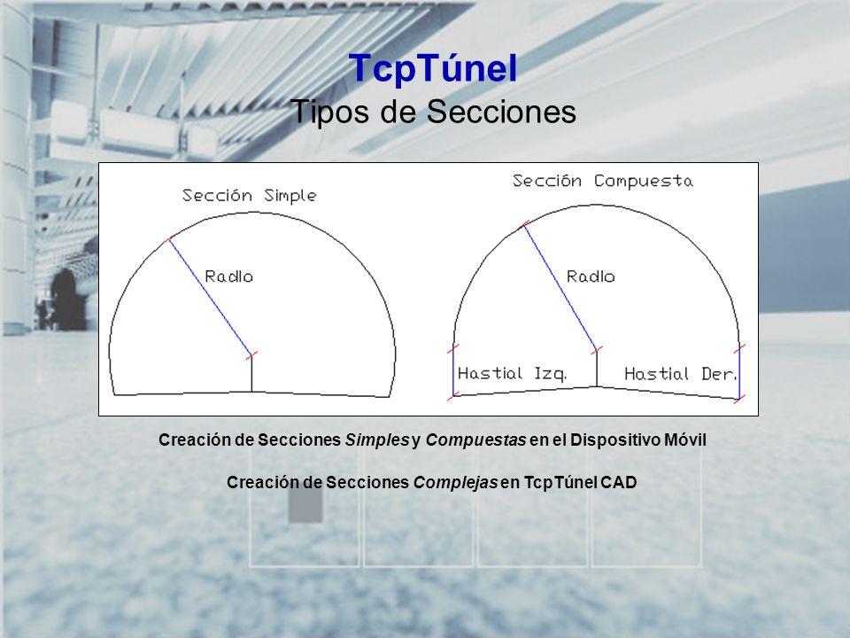 TcpTúnel Tipos de Secciones