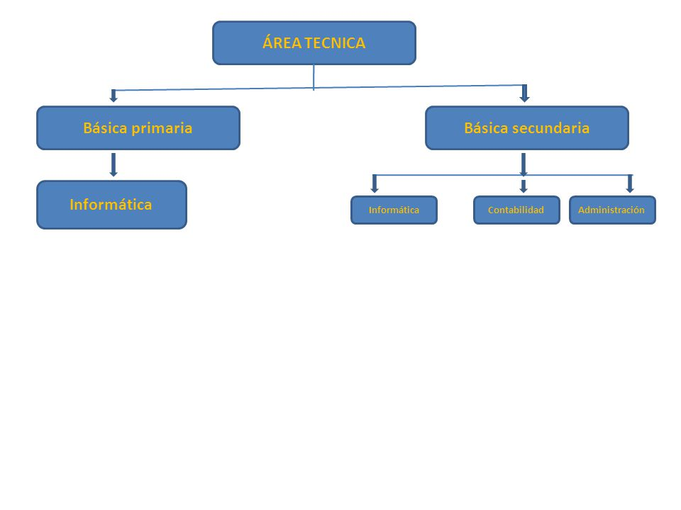 ÁREA TECNICA Básica primaria Básica secundaria Informática