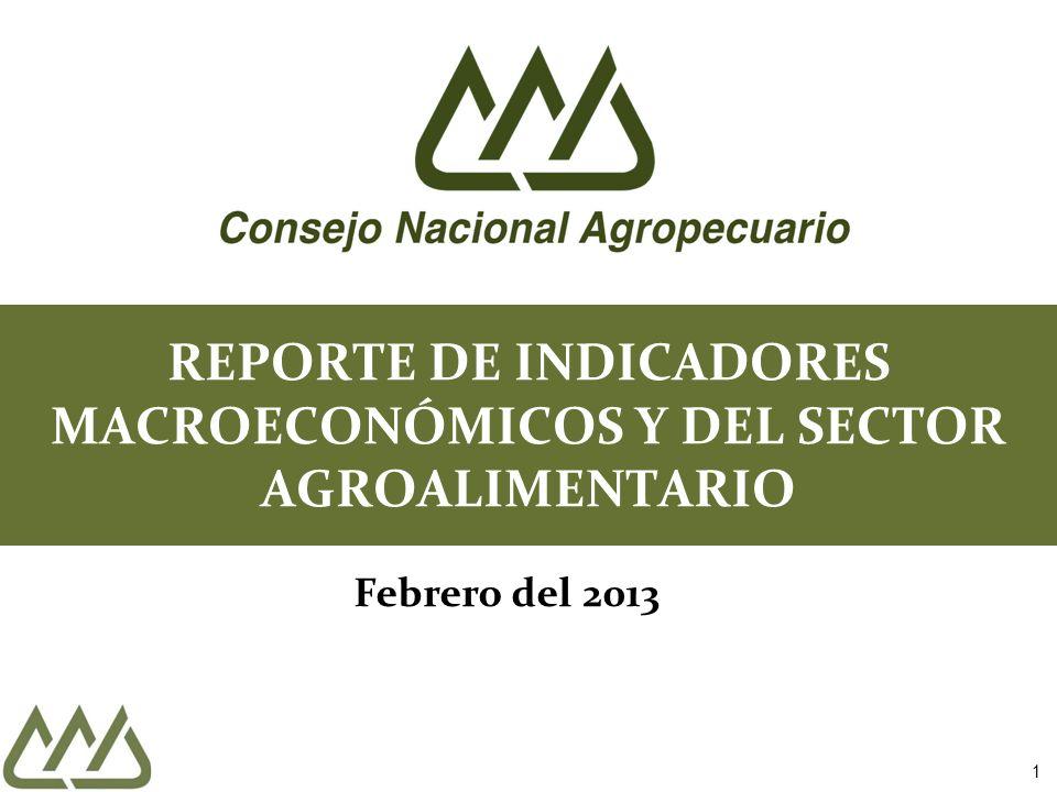 REPORTE DE INDICADORES MACROECONÓMICOS Y DEL SECTOR AGROALIMENTARIO