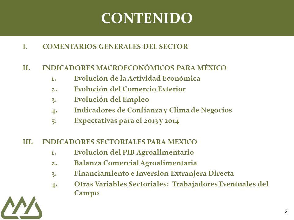 CONTENIDO COMENTARIOS GENERALES DEL SECTOR