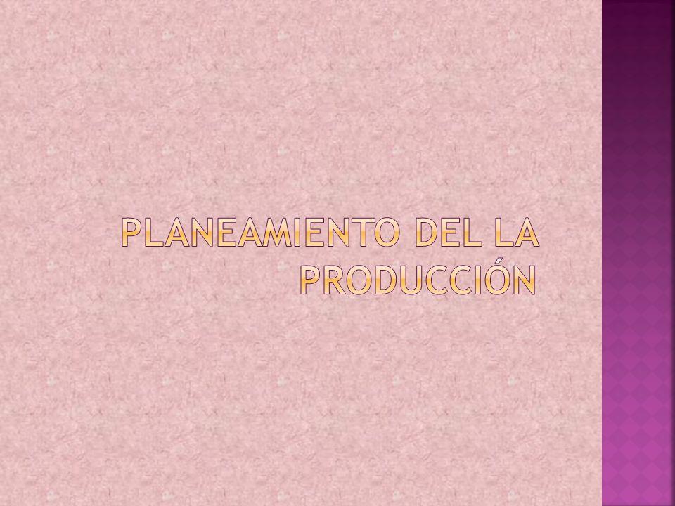 Planeamiento del la producción