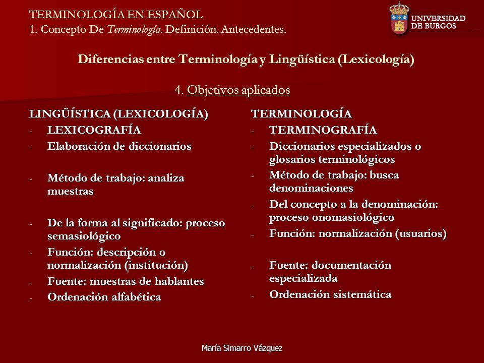 LINGÜÍSTICA (LEXICOLOGÍA) LEXICOGRAFÍA Elaboración de diccionarios