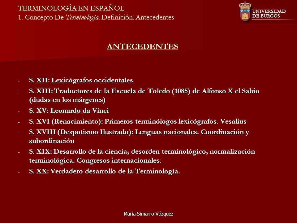 S. XII: Lexicógrafos occidentales