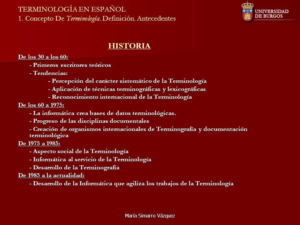 TERMINOLOGÍA EN ESPAÑOL 1. Concepto De Terminología. Definición