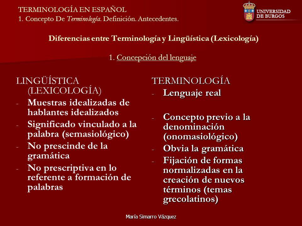 LINGÜÍSTICA (LEXICOLOGÍA)
