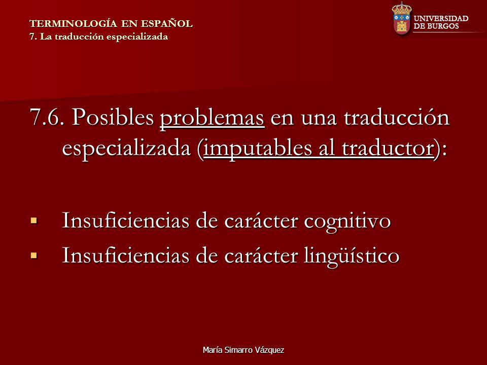 TERMINOLOGÍA EN ESPAÑOL 7. La traducción especializada