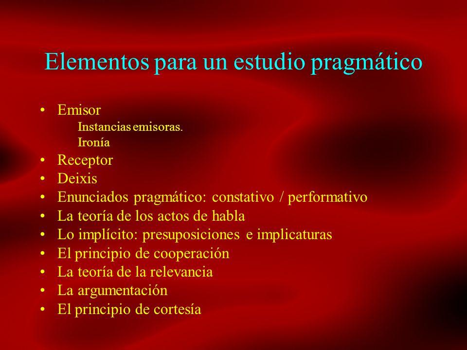 Elementos para un estudio pragmático