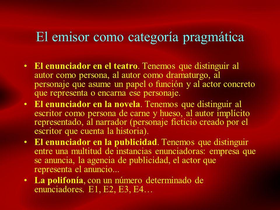 El emisor como categoría pragmática