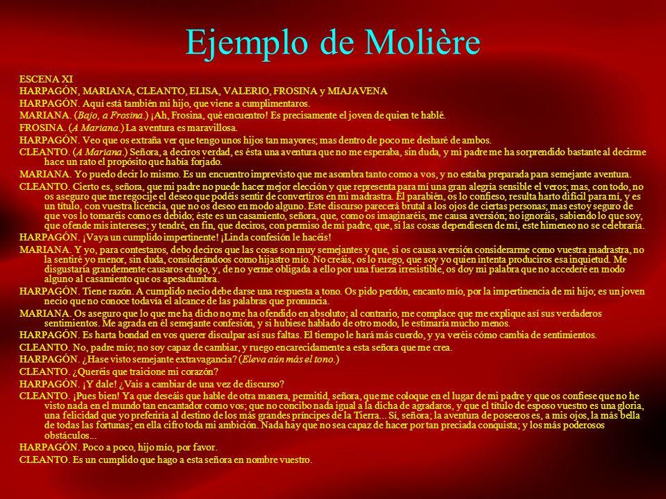 Ejemplo de Molière ESCENA XI