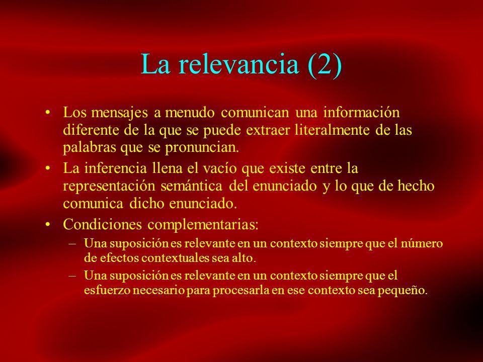 La relevancia (2)