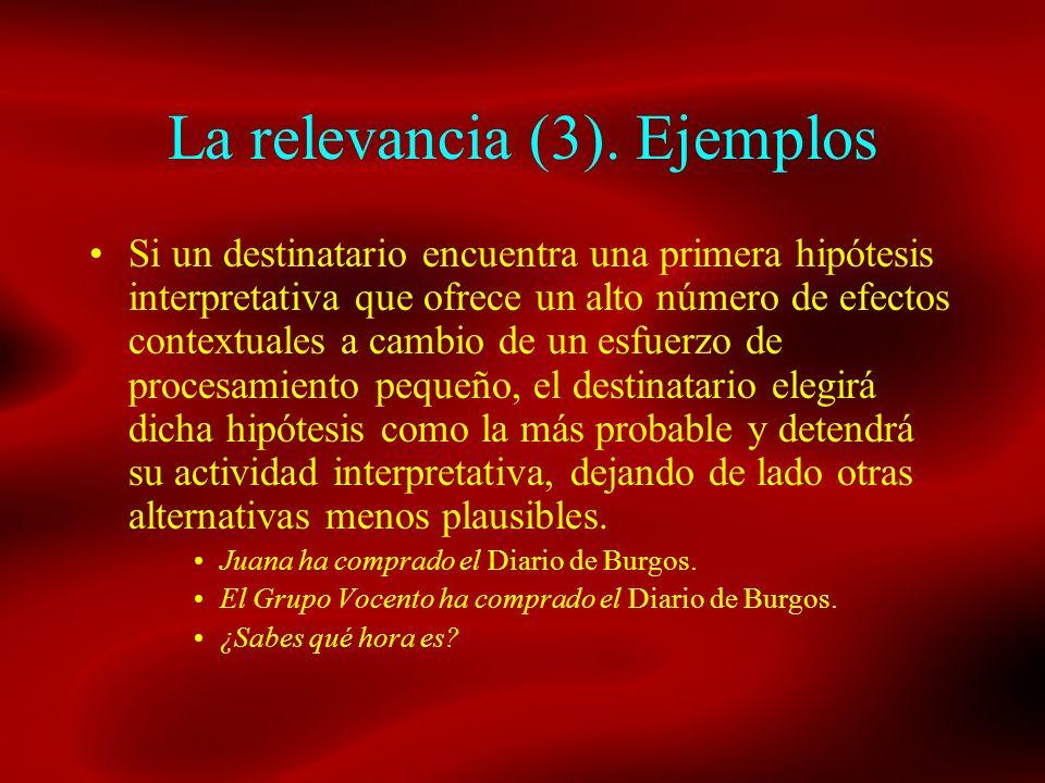 La relevancia (3). Ejemplos