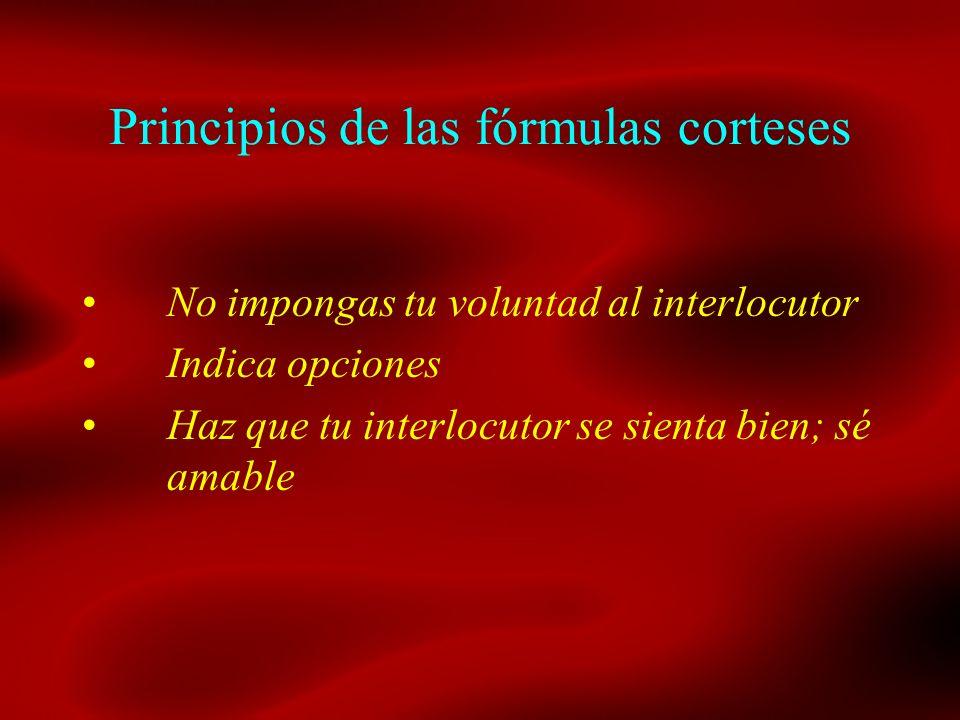 Principios de las fórmulas corteses
