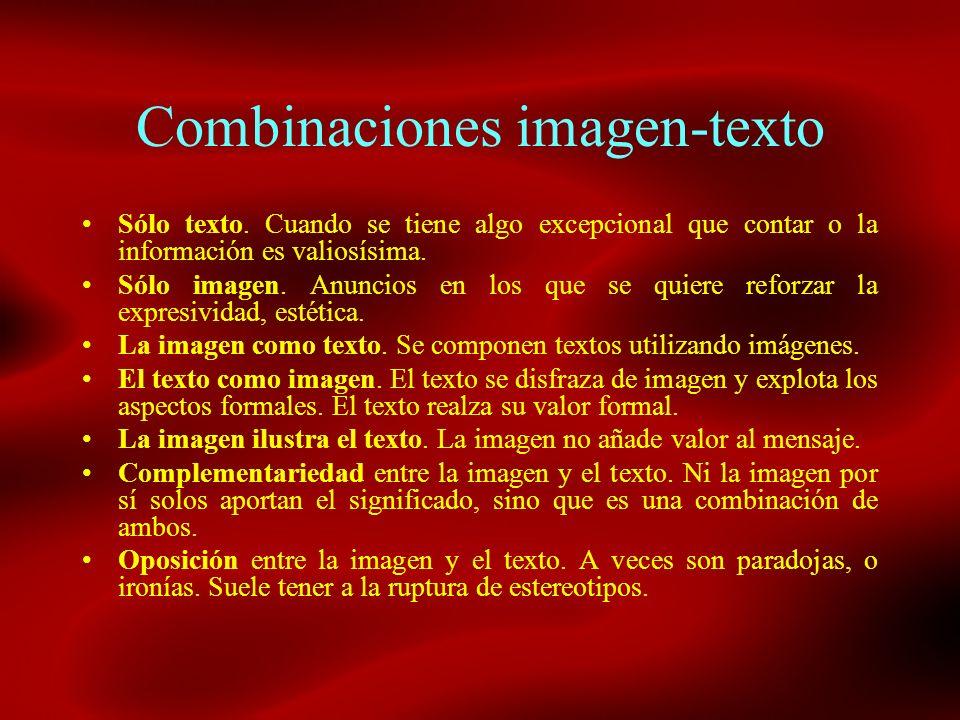Combinaciones imagen-texto