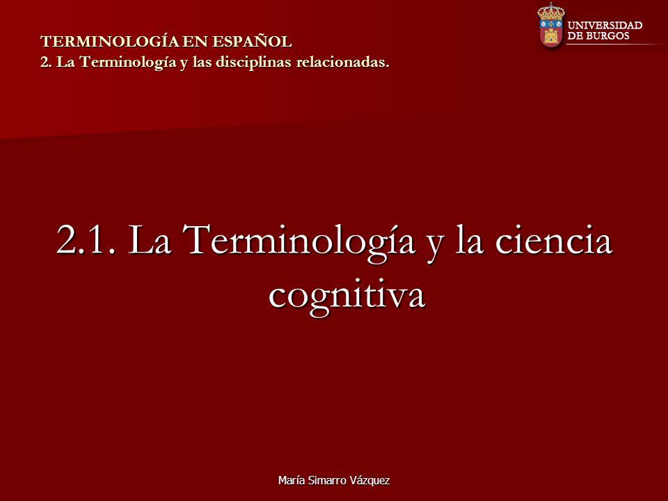 2.1. La Terminología y la ciencia cognitiva