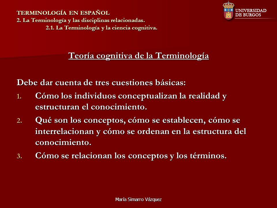 Teoría cognitiva de la Terminología