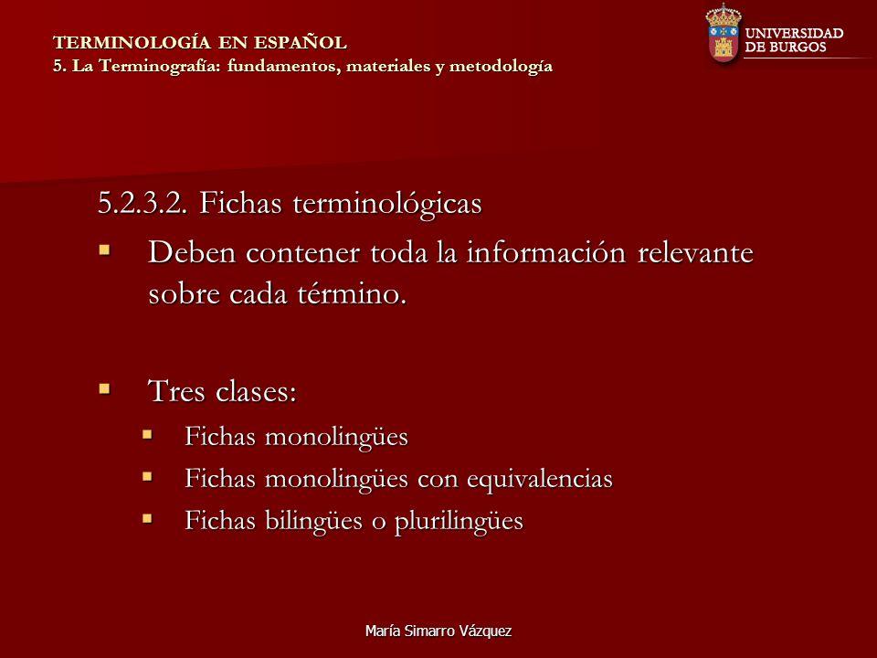 5.2.3.2. Fichas terminológicas