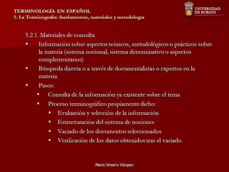 5.2.1. Materiales de consulta
