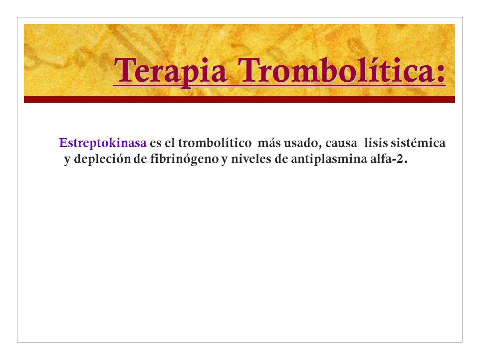 Terapia Trombolítica: