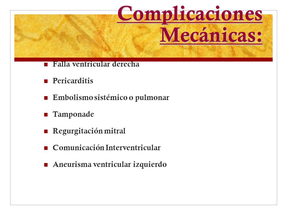 Complicaciones Mecánicas:
