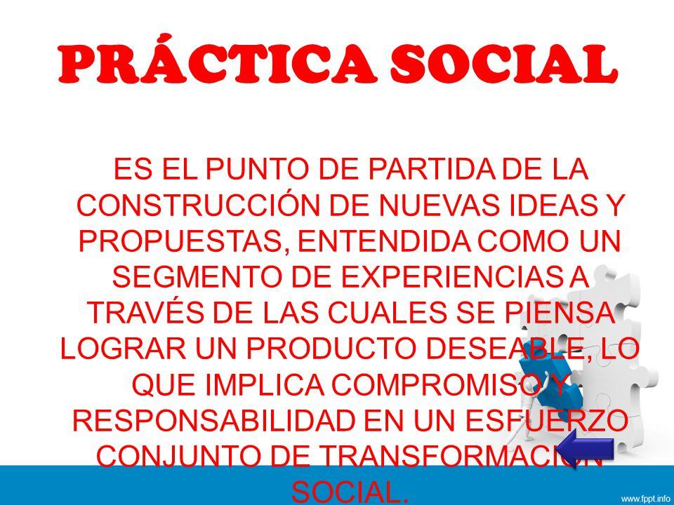 PRÁCTICA SOCIAL