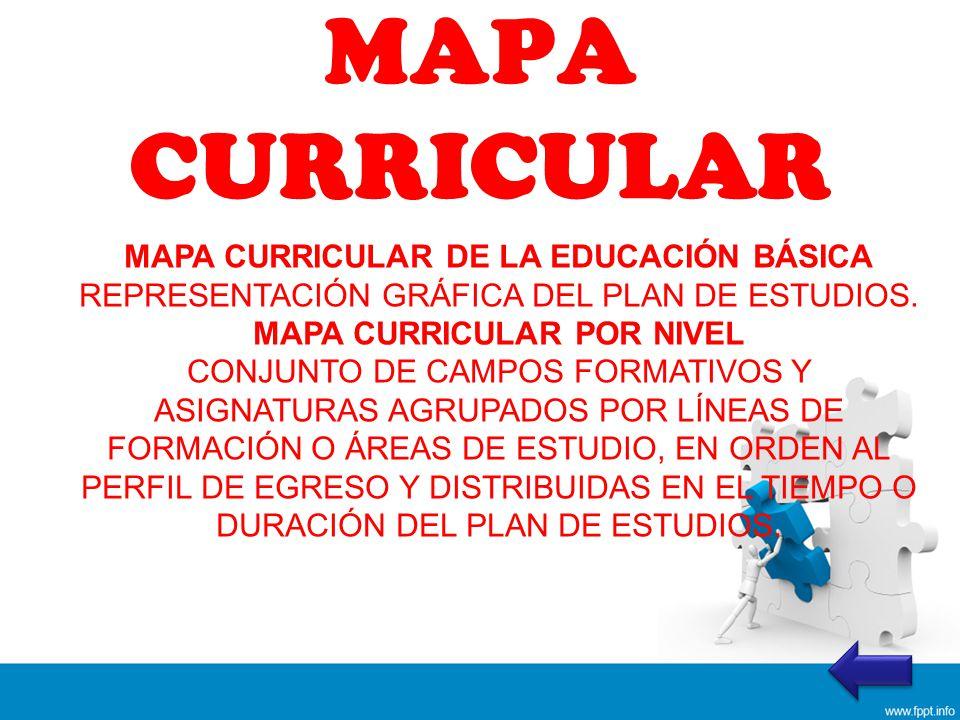 MAPA CURRICULAR MAPA CURRICULAR DE LA EDUCACIÓN BÁSICA