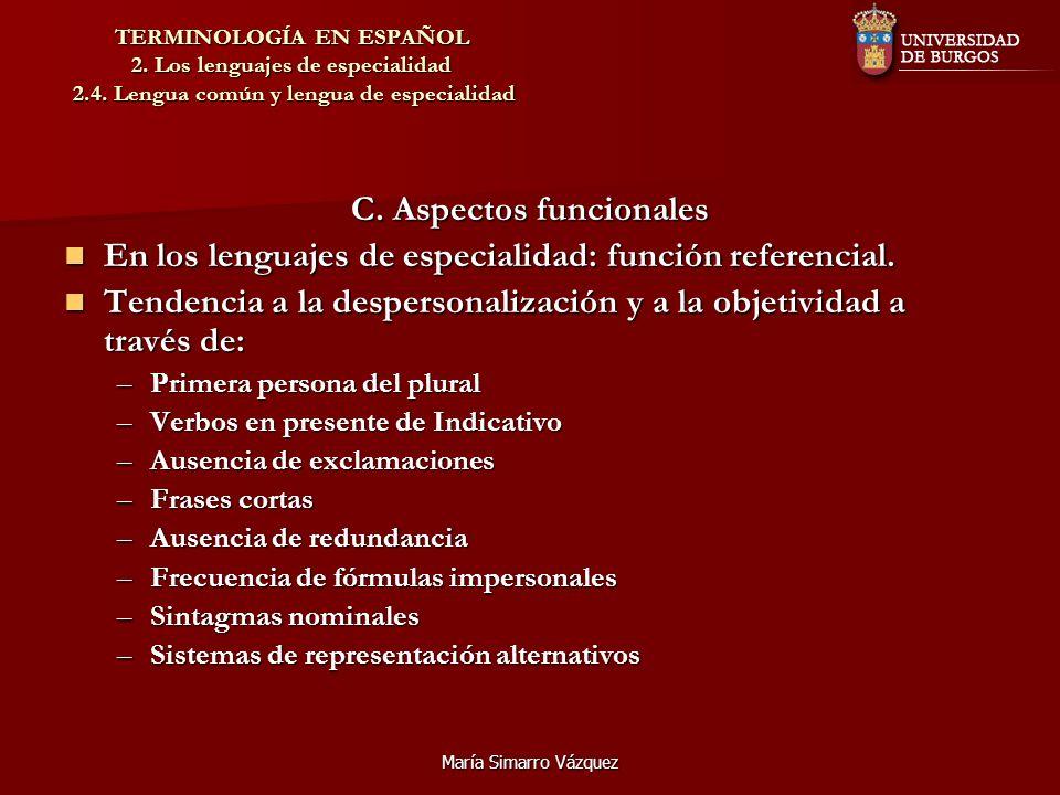 C. Aspectos funcionales