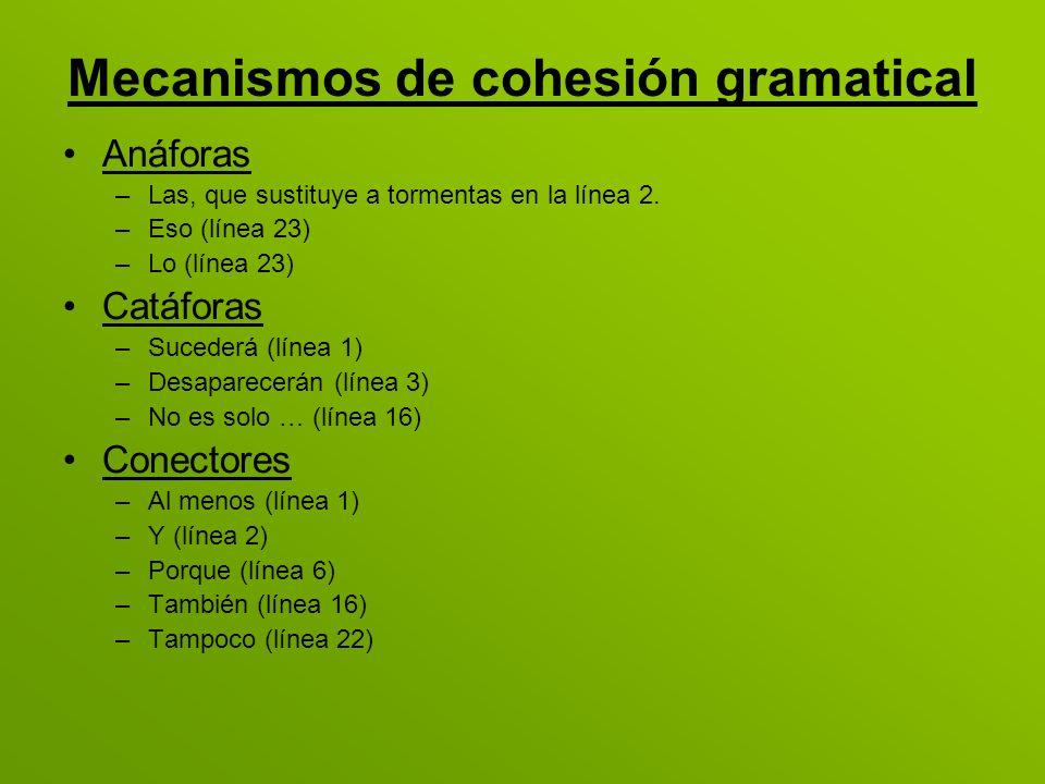 Mecanismos de cohesión gramatical