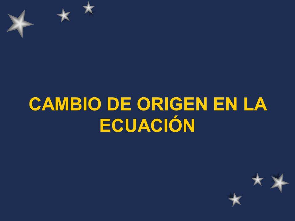CAMBIO DE ORIGEN EN LA ECUACIÓN