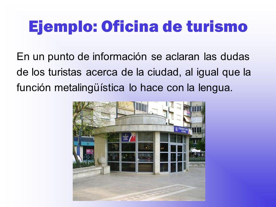 Ejemplo: Oficina de turismo