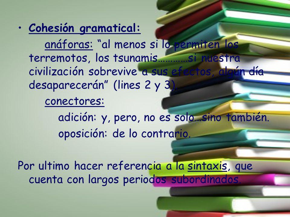 Cohesión gramatical: