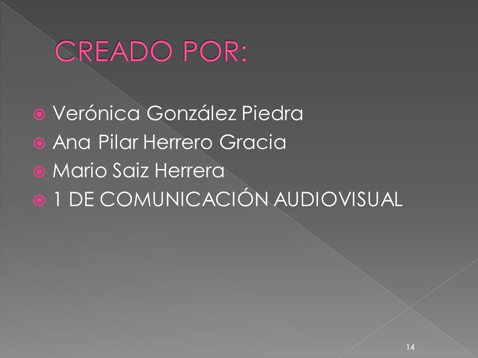 CREADO POR: Verónica González Piedra Ana Pilar Herrero Gracia