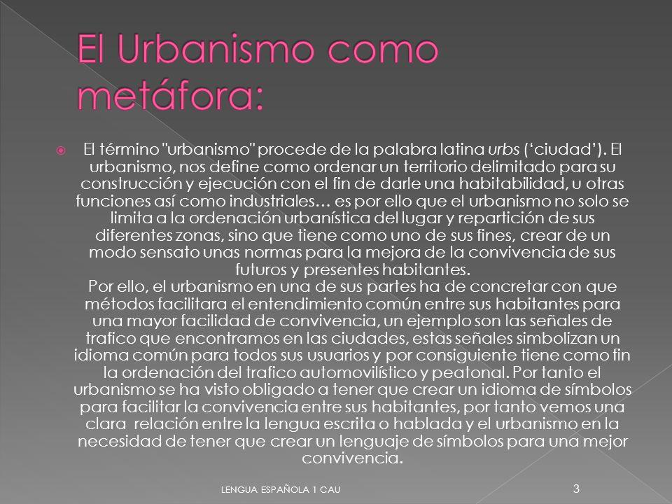 El Urbanismo como metáfora: