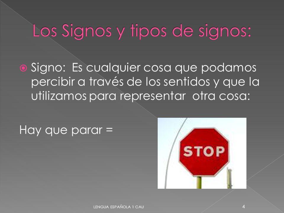 Los Signos y tipos de signos: