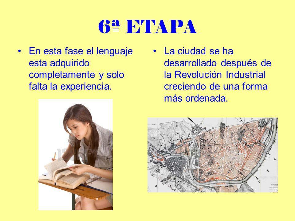 6ª ETAPAEn esta fase el lenguaje esta adquirido completamente y solo falta la experiencia.