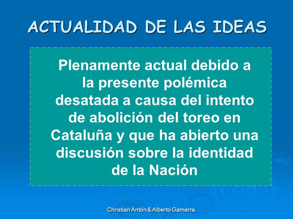 ACTUALIDAD DE LAS IDEAS