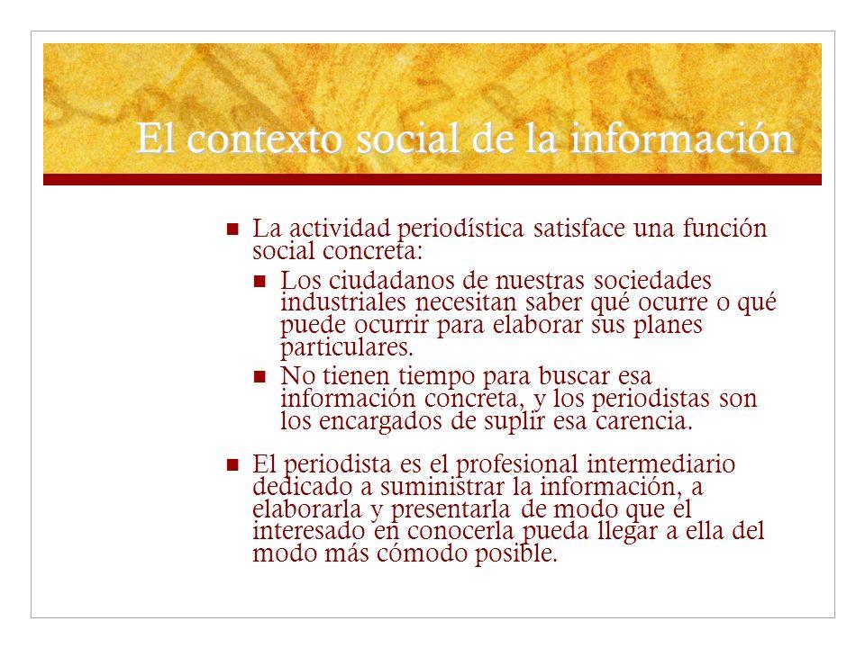 El contexto social de la información