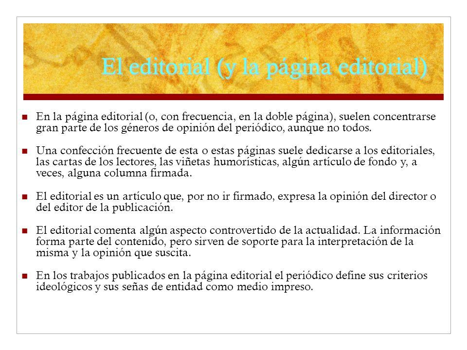 El editorial (y la página editorial)