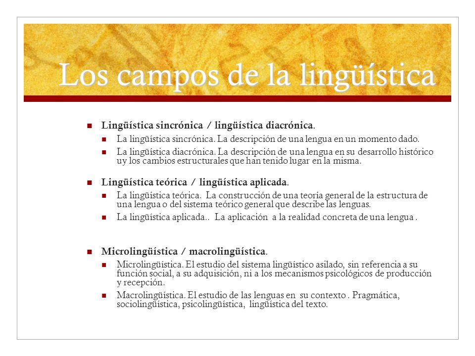 Los campos de la lingüística