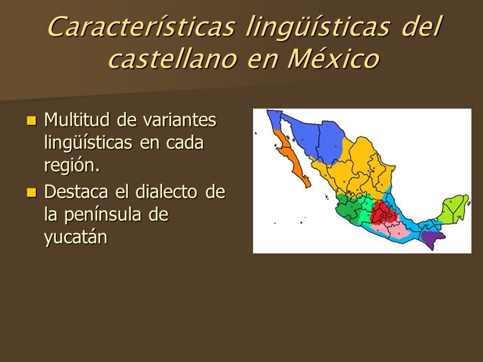 Características lingüísticas del castellano en México