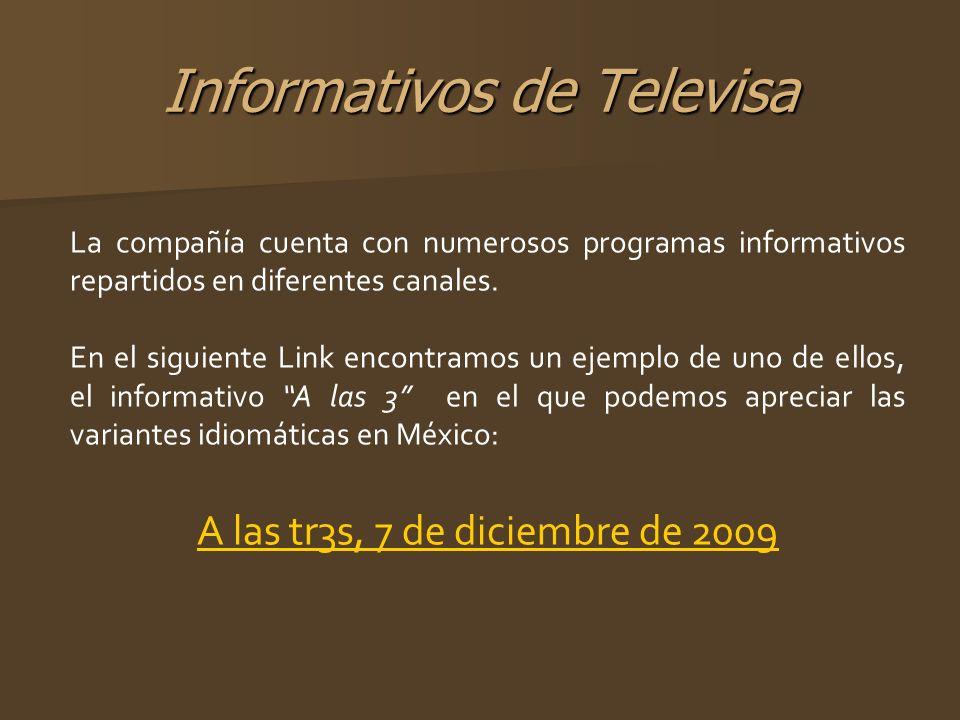 Informativos de Televisa