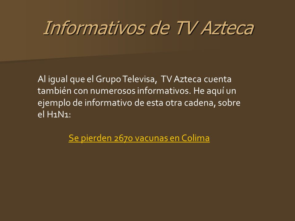Informativos de TV Azteca