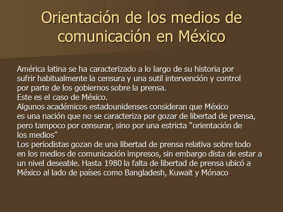 Orientación de los medios de comunicación en México