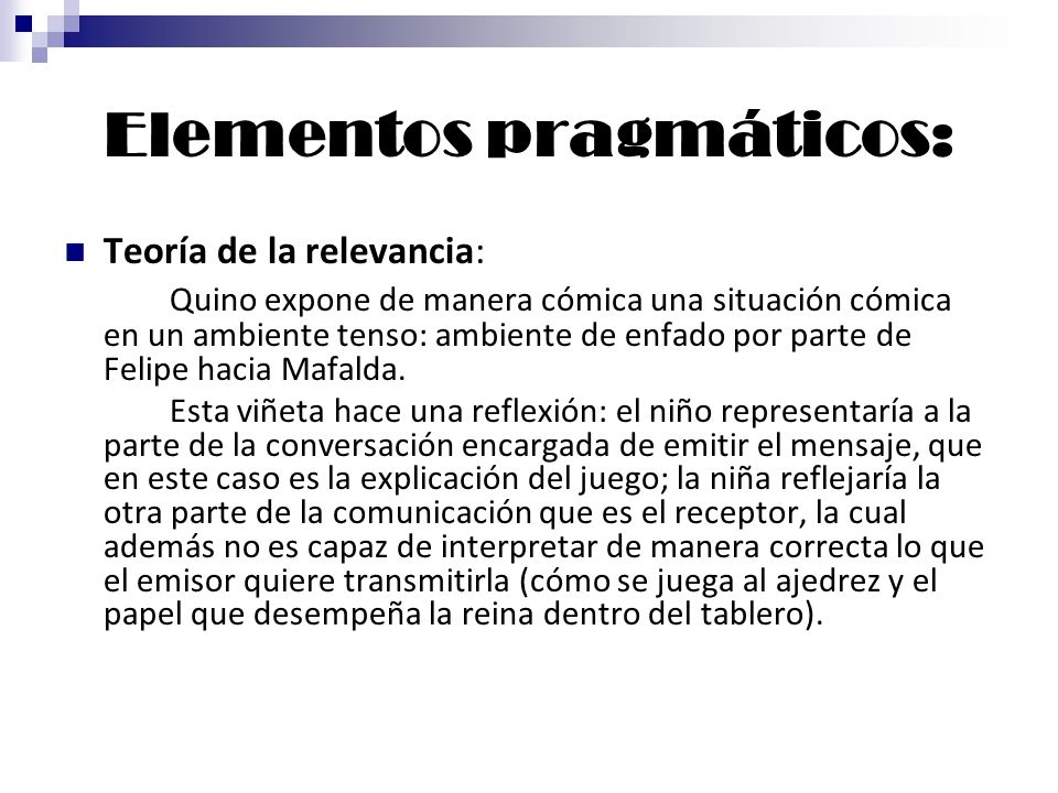 Elementos pragmáticos: