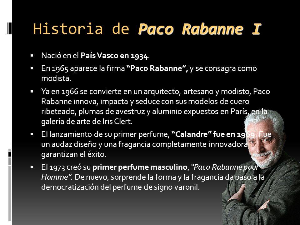 Historia de Paco Rabanne I