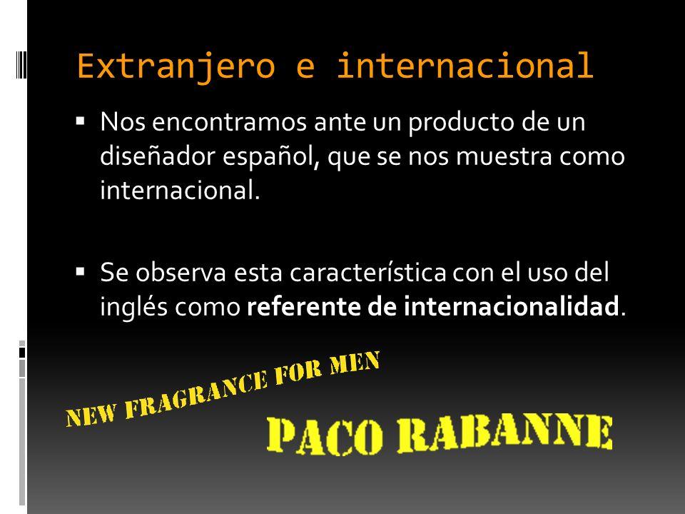 Extranjero e internacional