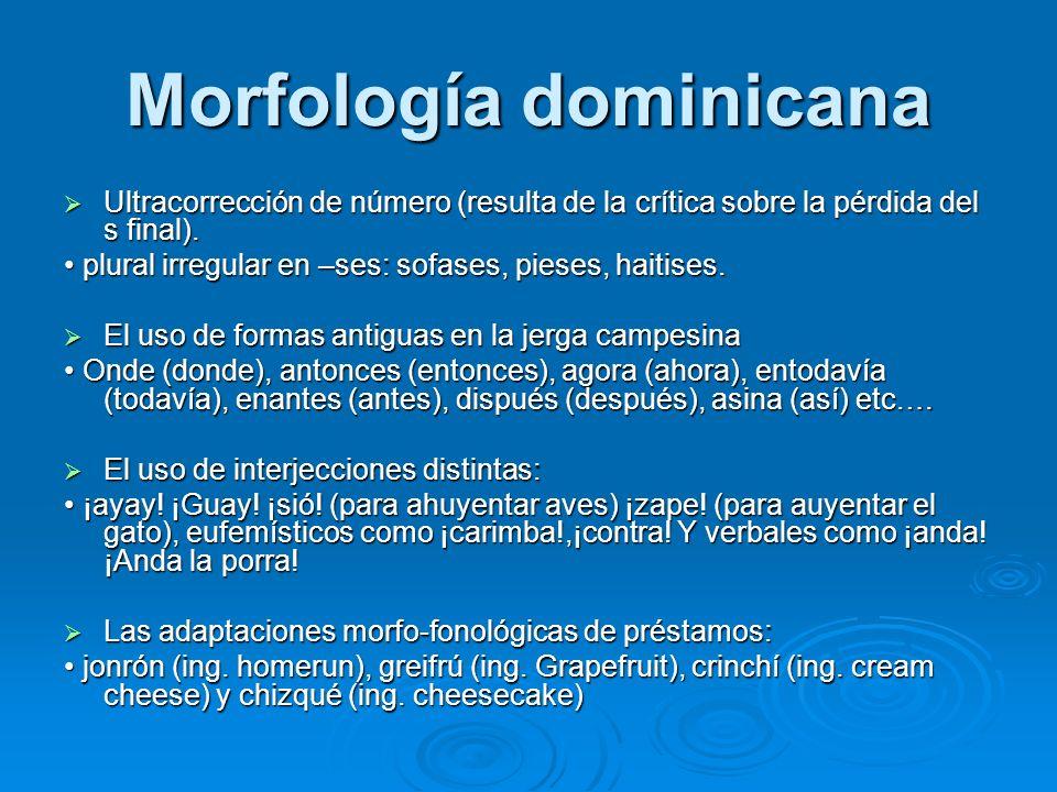 Morfología dominicana