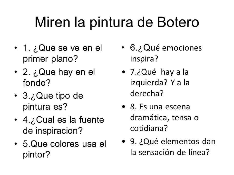 Miren la pintura de Botero